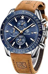 BENYAR Reloj cronógrafo para Hombre Movimiento de Cuarzo Fashion Business Sports Watch 30M Impermeable Elegante Regalo de los Hombres