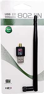 Mini USB WiFi Wireless LAN 600Mbps 802.11 n/g/b Adapter with Antenna