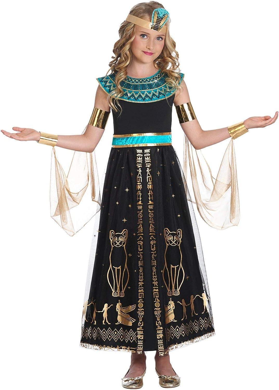 Fiestas Guirca Costume Cleopatra Regina egizia sovrana egiziana Bambina