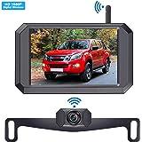 LeeKooLuu 1080P Wireless Backup Camera 5'' Display Digital Signals 2020 New Chips for Trucks,Small RVs,Camper,Car IP69…