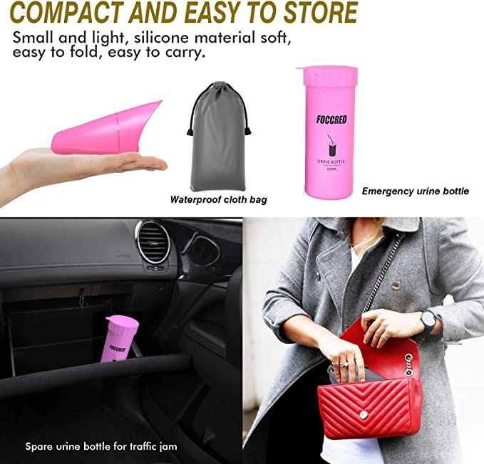 Tizzic Female Urination Device Suitable for Camping and Outdoor Traffic Jam Emergency Urine Bag Reusable Portable