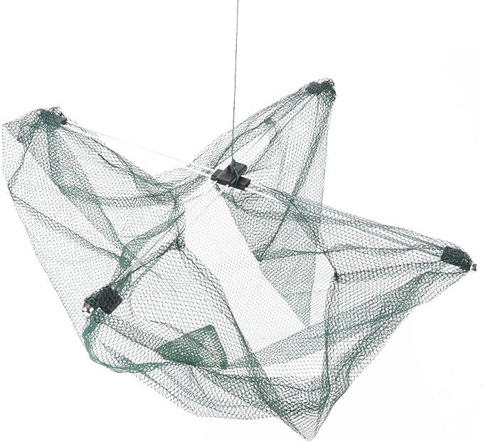 Gewicht /& Lenker Krabben Netz Garnele Kleine Fische Falle F/änger Fischen Crab Drop Netz mit K/ödertasche