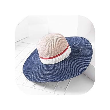 Sombreros de Verano para Mujer, ala Grande con Lazos, Gorro de ...