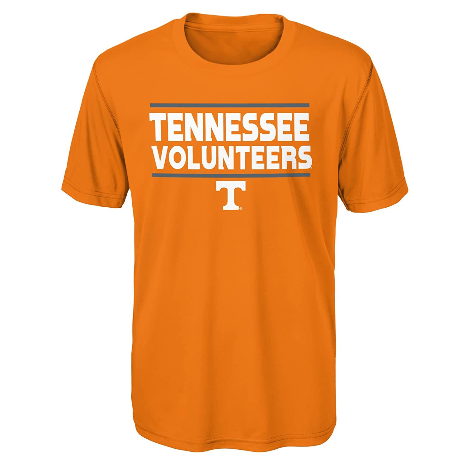 18 Light Orange Outerstuff NCAA Tennessee Volunteers Youth Boys Short Sleeve Performance Tee Youth Boys X-Large