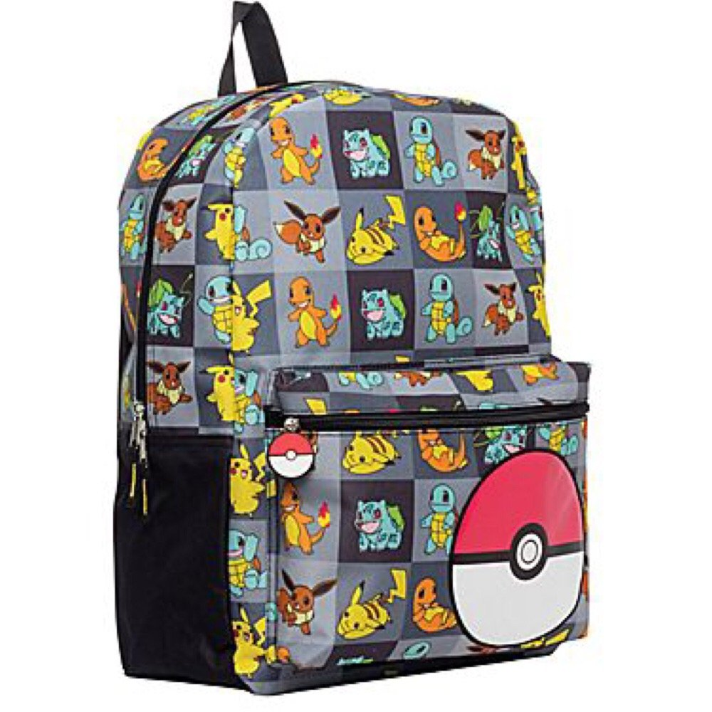 amazoncom pokemon large 17 all over print front pocket backpack toys games