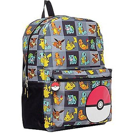 Pokémon - Mochila, estampado completo, bolsillo frontal, 43,1 cm