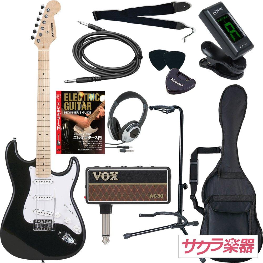 SELDER セルダー エレキギター ストラトキャスタータイプ ST-16M/BK VOX amPlug2【アンプラグ2 AP-AC(AC30)】サクラ楽器オリジナルセット B00OVOTZZM ブラック/M