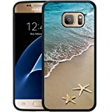 Galaxy S7 Case,S7 Case,starfish on the beach Black Rubber Case For Samsung Galaxy S7