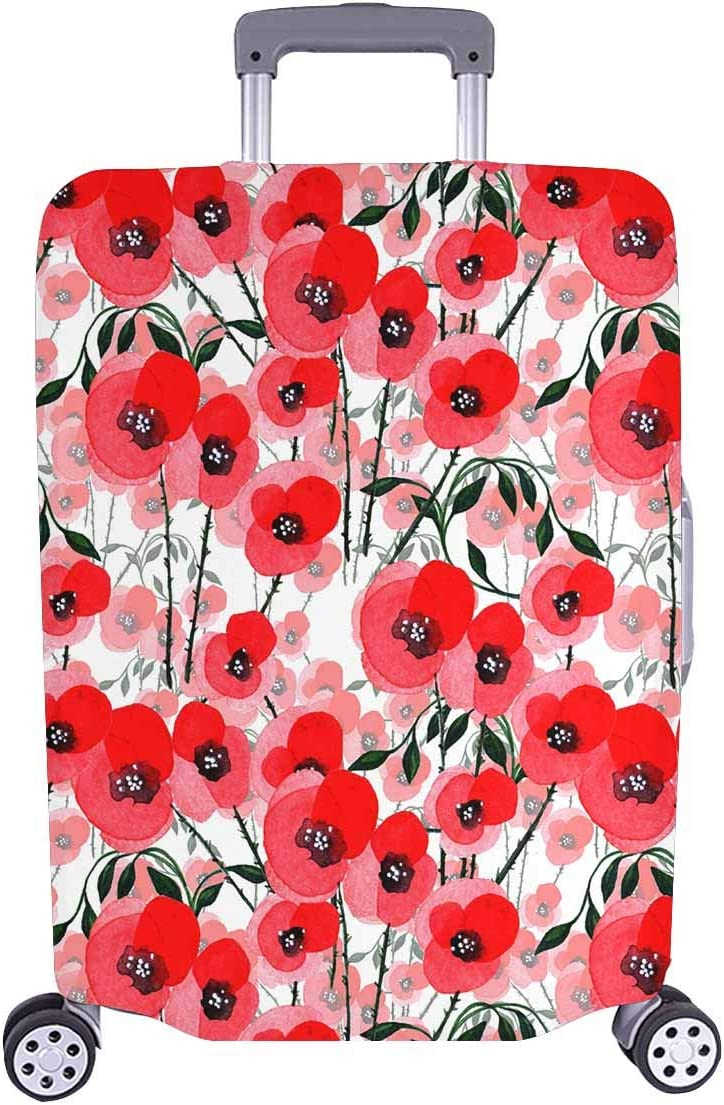 4 Size Floral Pattern Of Poppy Flowers Printed Business Luggage Protector Travel Baggage Suitcase Cover