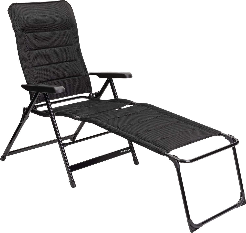 BERGER Tesino XL Beinauflage Stuhl Camping Fu/ßablage Auflage Aluminium Ablage schwarz Zubeh/ör