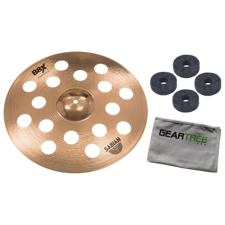 Sabian 41800X 18in B8X O-Zone Series Crash Cymbal Bundle w/Felts and Cloth by Sabian