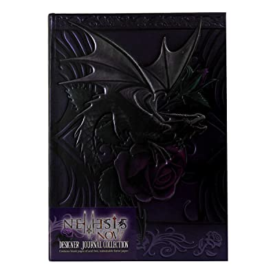 Licensed Anne Stokes Dragon Beauty with Purple Rose Embossed Journal Hard Cover Notebook: Toys & Games