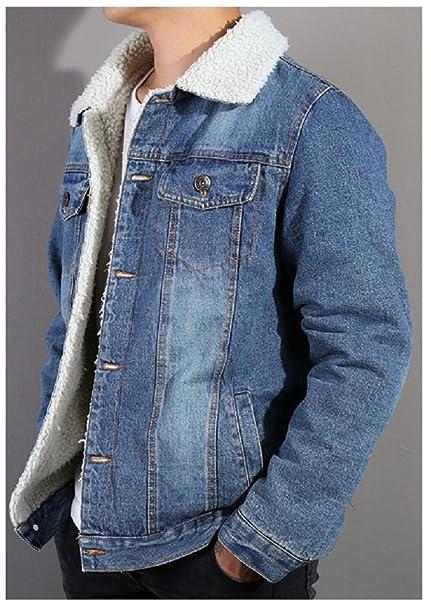 Amazon.com: hanxue Hombre Denim Jeans – Chaqueta con forro ...