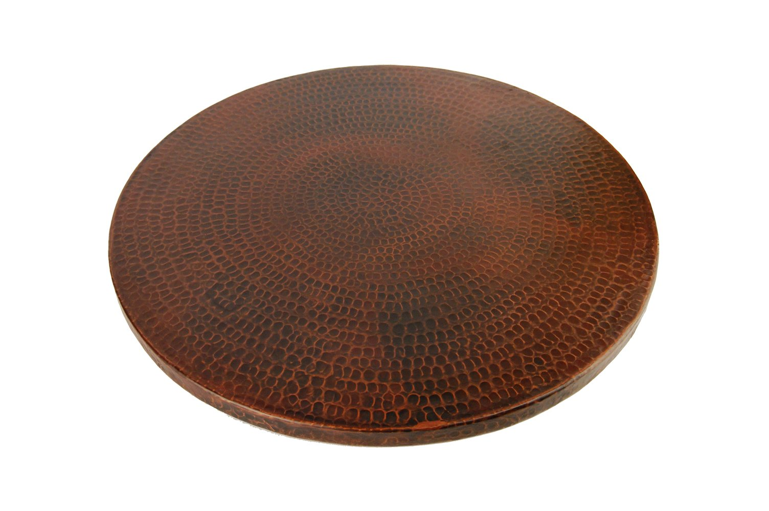 Premier Copper Products LS18DB 18-Inch Hand Hammered Copper Lazy Susan, Oil Rubbed Bronze by Premier Copper Products