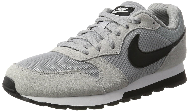 Nike MD Runner 2, Zapatillas de Running para Hombre 42.5 EU|Gris/Negro/Blanco (Wolf Grey/Black-white)