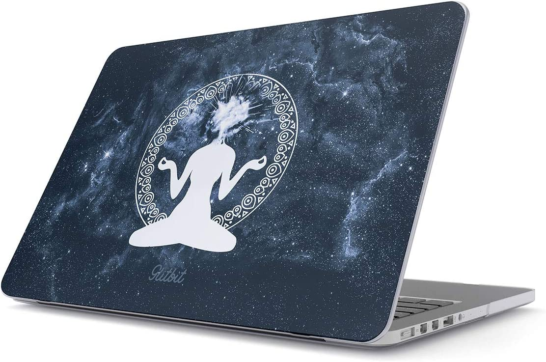 Glitbit Hard Case Cover Compatible with MacBook Air 13 inch Case Release 2018-2019 Model: A1932 / A2179 with Retina Display and Touch ID Meditation Yoga Buddha Buddism Namaste Spirit Cosmic Galaxy