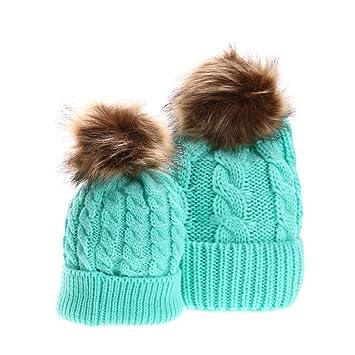 7cb760766630 La Cabina Chapeau de Mère et Bébé Bonnet Crochet Chapeau de Sports Chapeau  Hip-hop