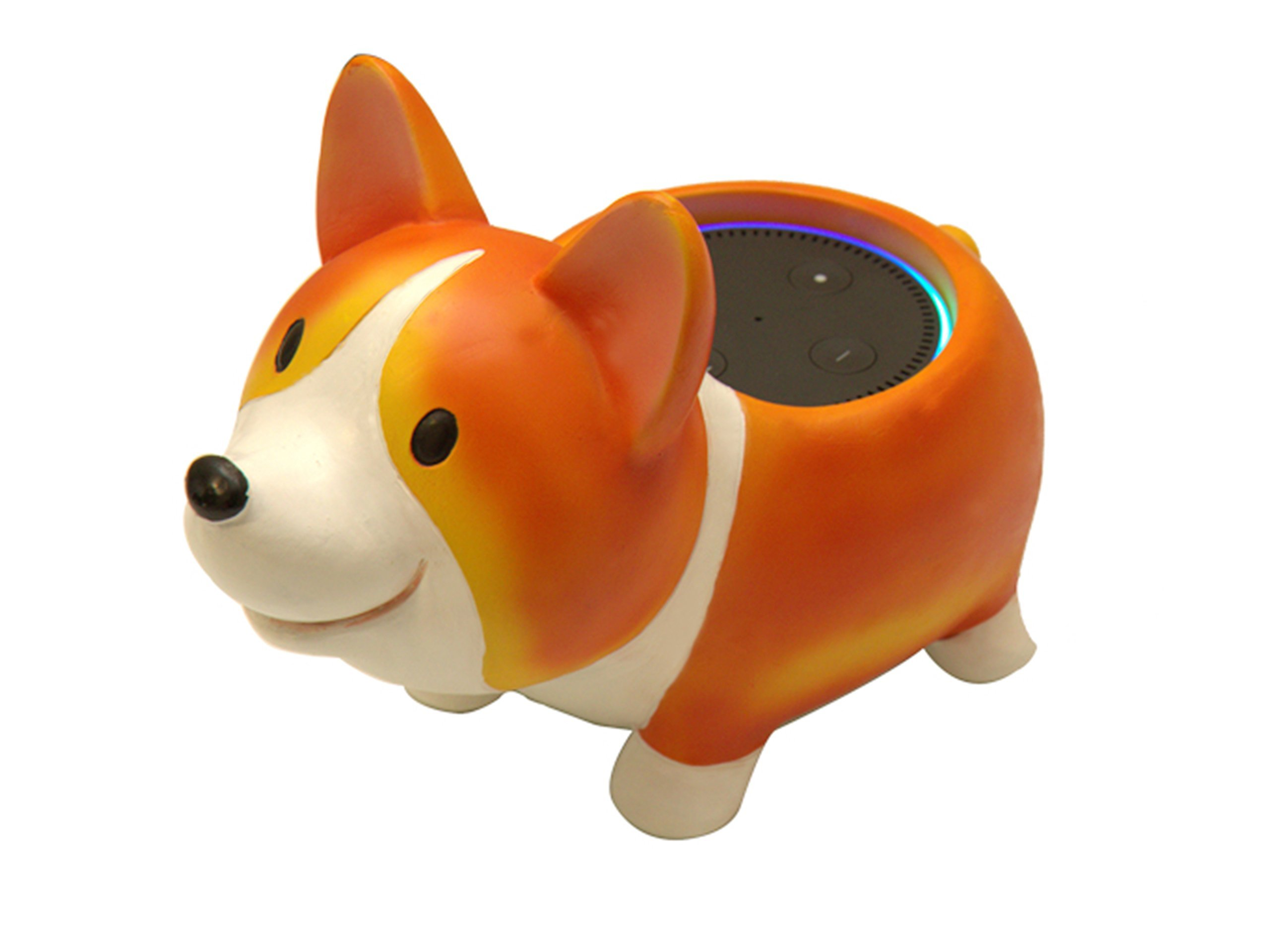 Corgi Dog Holder Stand Mount For Alexa Echo Dot, Bose, Anker, Home Mini round speakers Accessories
