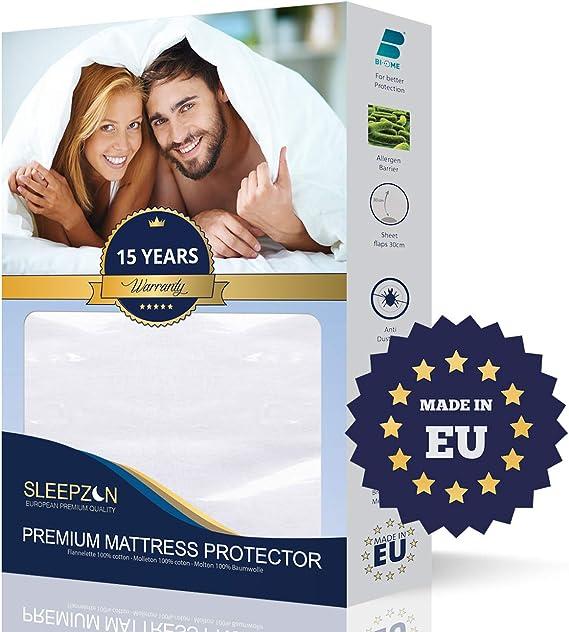 SLEEPZEN Protector de Colchón Impermeable 180x200, Muletón 100 ...
