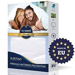 SLEEPZEN Protège Matelas Bébé Imperméable 70x140 cm - Molleton 100% Coton, Alèse de lit imperméable - Anti-Acarien, Antibactérien, Anti-Moisissures, hypoallergénique - Made in UE - Garantie 15 Ans