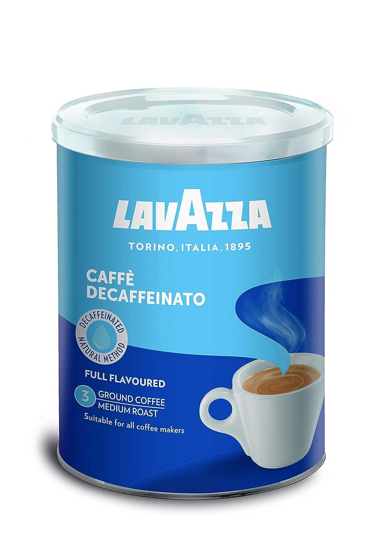 Lavazza Café Molido Espresso Dek Classico, Descafeinado, Paquete ...