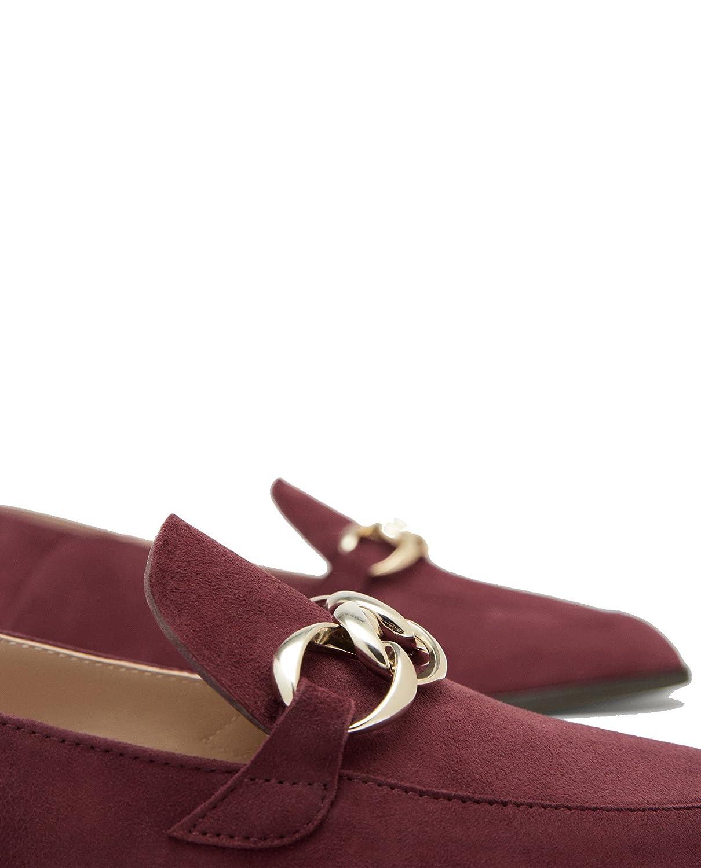 Massimo Dutti Mocasines de Otra Piel Mujer, Rojo (Rojo), 37: Amazon.es: Zapatos y complementos