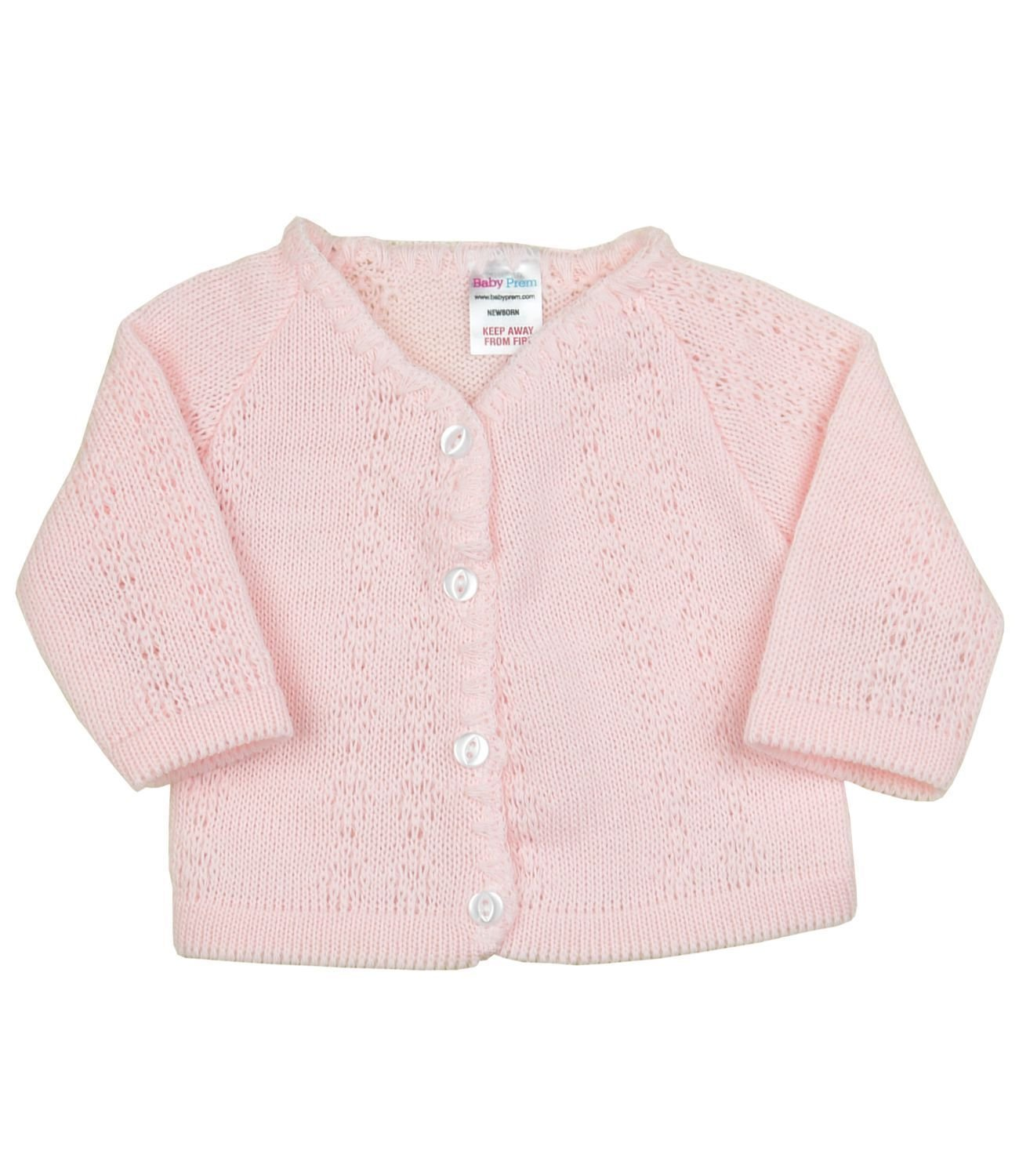 BabyPrem Baby Cardigan Jacket Boy Girl Buttons Soft Knitted Newborn - 3 Months BEE026