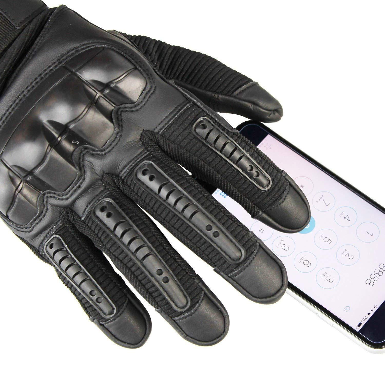 XL Yizhet Guantes de Moto Guantes T/ácticos Pantalla T/áctil Guantes Dedo Completo Antideslizante para Motocicleta Ciclismo Caza Escalada Acampar Negro