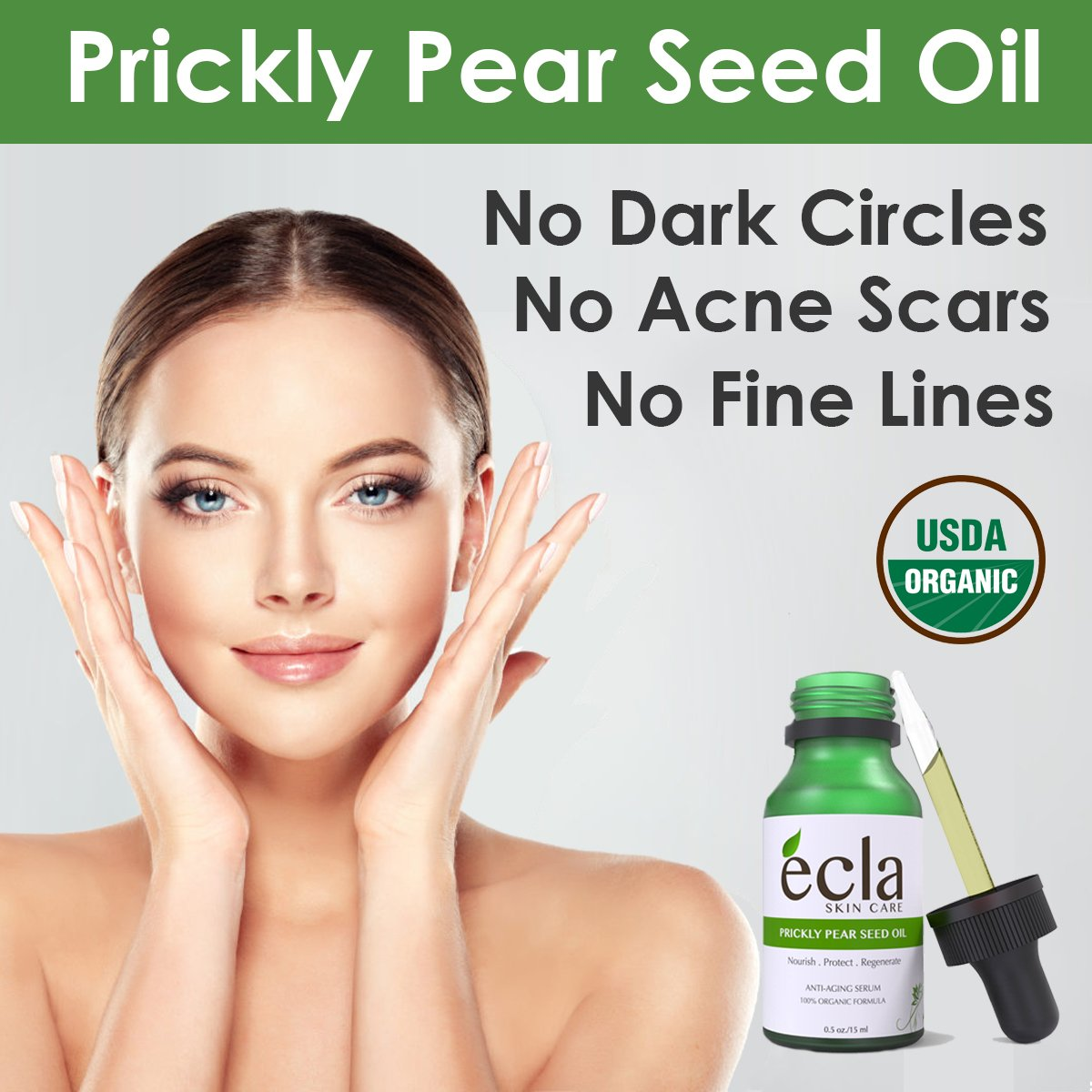 Amazon.com: Prickly Pear Seed Oil (Barbary Fig Cactus Oil) - 100% Pure  Certified Organic Anti-aging Night Serum, Facial Moisturizer (0.5 fl oz)  Natural ...