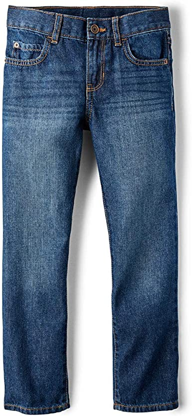 The Childrens Place Boys Straight Stretch Jeans