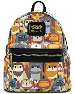 95bf448c126 Amazon.com  Loungefly X Star Wars Ewok Zip Around Wallet  Toys   Games