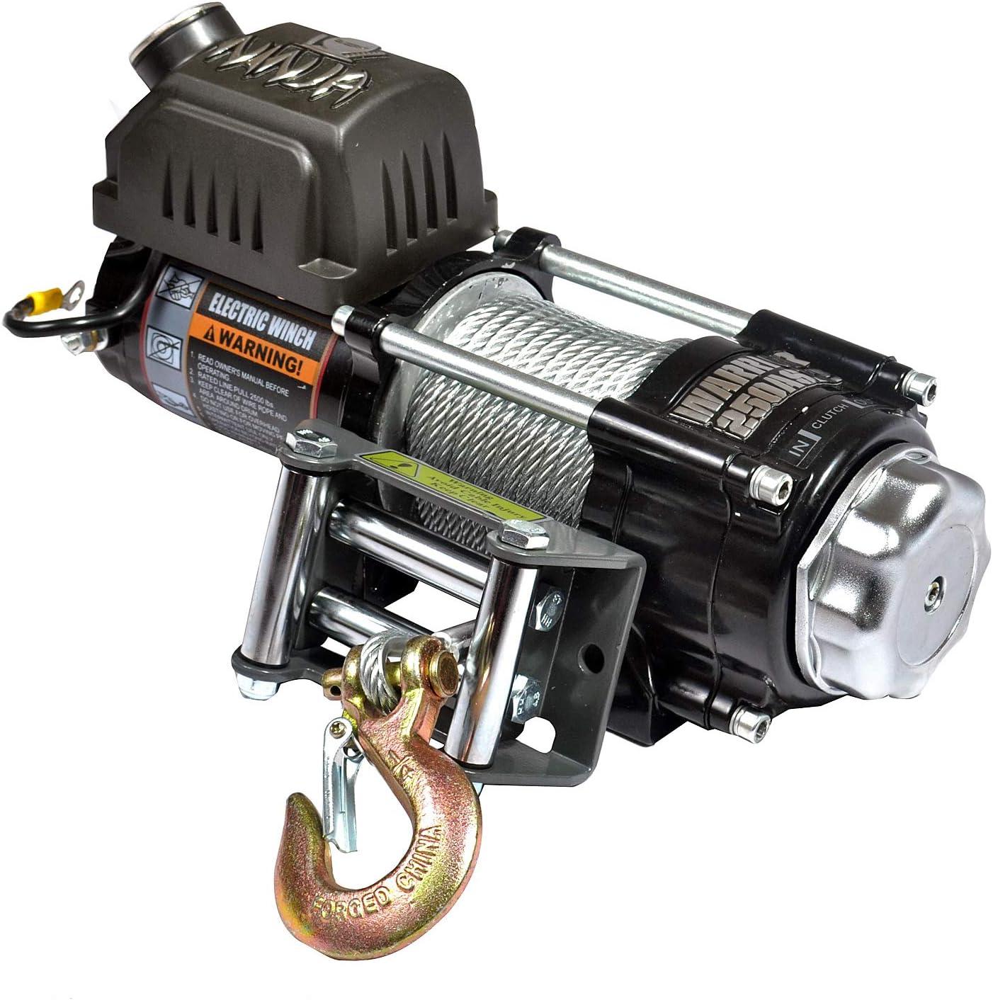 Torno de Cable el/éctrico para Quad ATV//UTV Ninja 2500LB A 1,1 t 24 V Warrior WW25SPS24