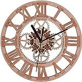 Giftgarden Orologio da Parete Ingranaggio Design in Legno