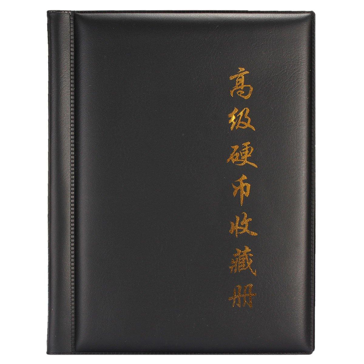 250 Monete Tasche Raccolta Holder Mondo Coin Collection Bagagli Denaro Album Libro -Black Prezzi