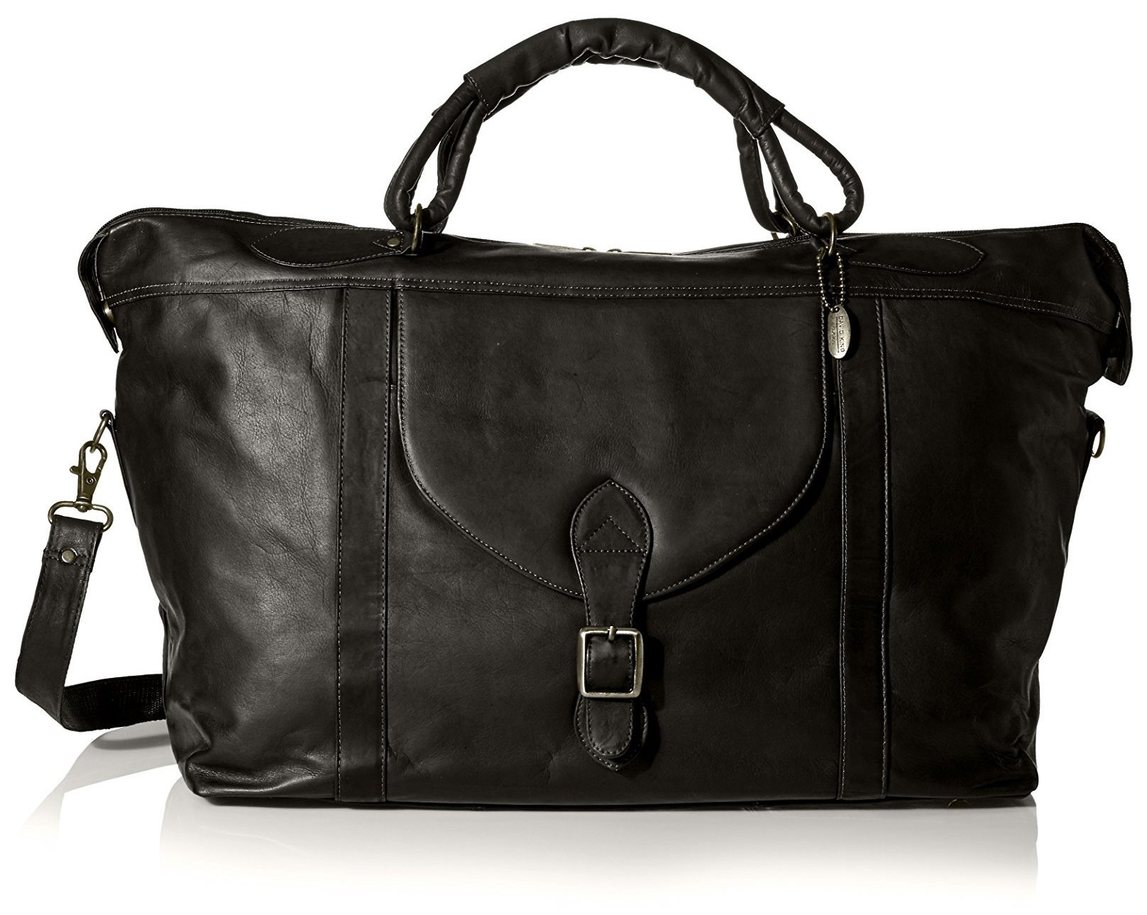David King Men's Top Zip Travel Bag, Black