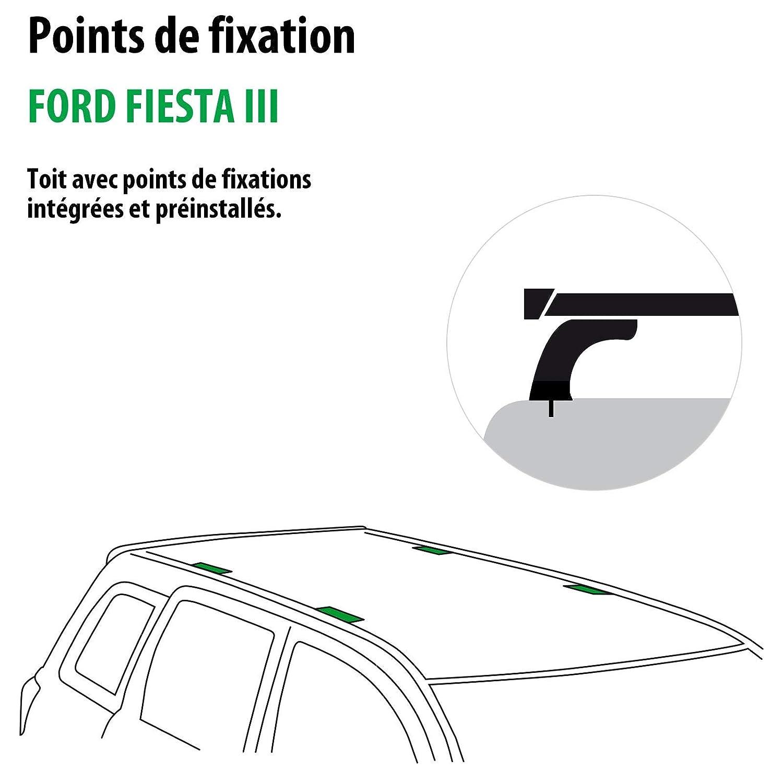 Kit completo Rameder, barras de techo squarebar para Ford Fiesta III (116017 - 00411 - 10-fr): Amazon.es: Coche y moto