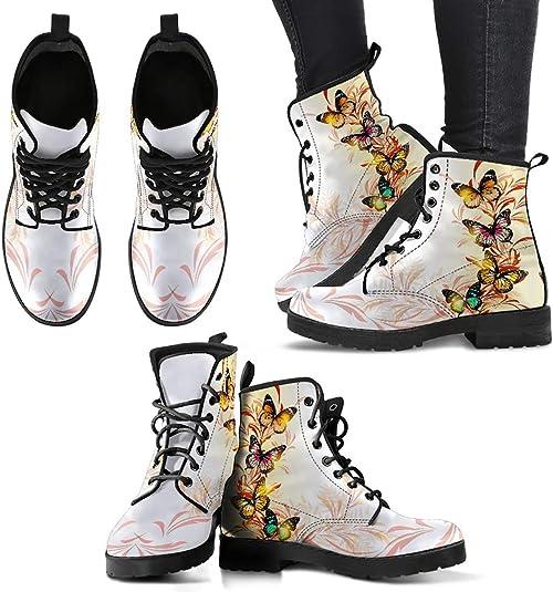 Butterflies Boots Fall Accessories Boho Chic Boots Butterfly Boots Women/'s Shoes Butterfly Fabric Combat Boots Moth Boots