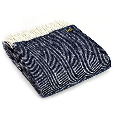 Amazon.com: Tweedmill Textiles - Manta de lana 100% pura ...