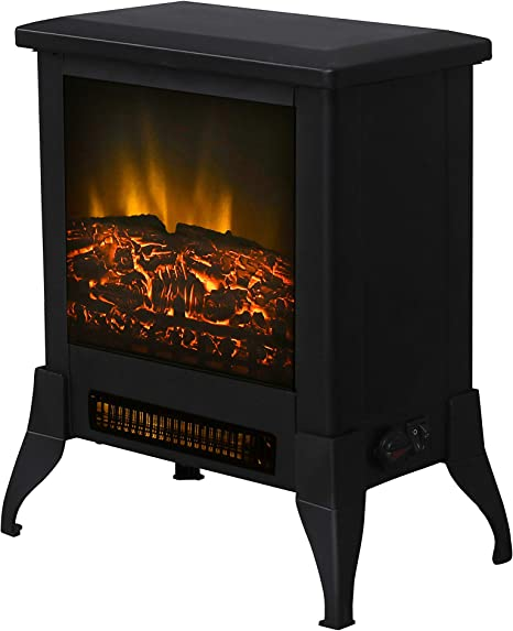 Top Space 14 Electric Fireplace Stove Portable Freestanding Fireplace Realistic Flame Electric Wood Stove Fireplace Heater Black Csa Certified 1400w Kitchen Dining