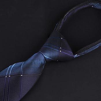 Corbata clásica para hombre, con cremallera, 8 cm de ancho ...