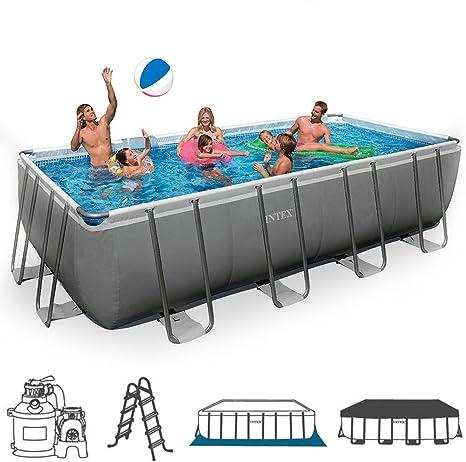 Intex 28352 piscina Frame rectangular cm 549 x 274 x 132 H con bomba filtro Arena