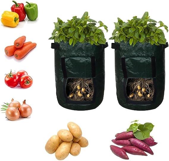 AMA(TM)® Pack de 2 macetas de Cultivo, Bolsas de Patatas DE 10 ...