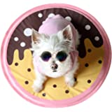 little dove Cooling Mat for Small Dogs Cooling Pad Self Cooling Gel Cushion Keeping Pets Cool Sleeping Mat Non-Toxic Tiny Toy Size Dog Mat Floor Bed Car Sofa Etc Donut Style