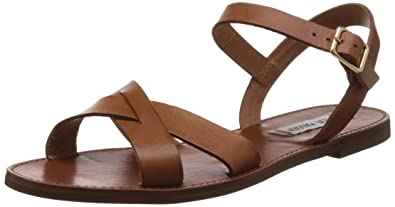 208c0d37e4d Steve Madden Women's Dublin Tan Leather Fashion Sandals - 4 UK: Buy ...