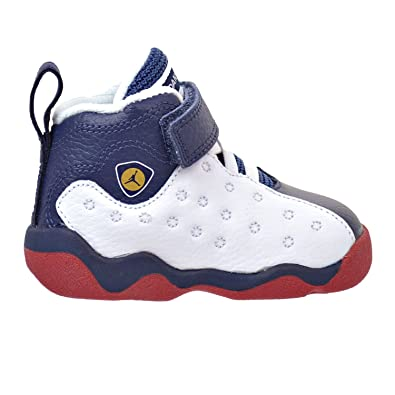 sale retailer 0658e 890db ... real jordan jumpman team ii toddlers style white mid navy gym red  metallic 7e84d a6fde