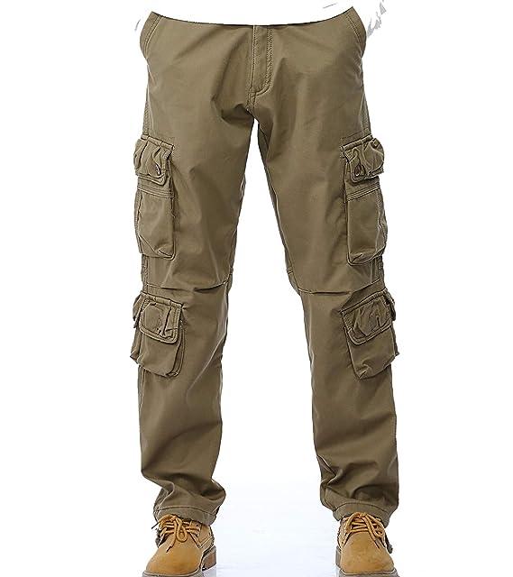 AYG Invierno Pantalón Militar Hombre Pantalones Cargo Pants Espesor Trousers 29-40: Amazon.es: Ropa y accesorios