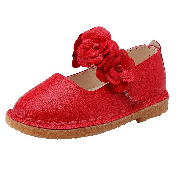 AHATECH Ballerines Fille Princesse Chaussures enfant Bebe Plates Velcro Ceremonie Mariage à Fleurs