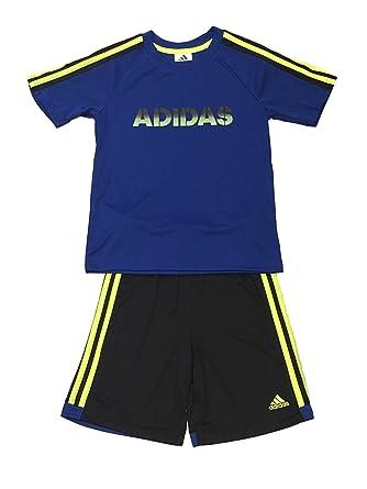 92fecb00f Amazon.com: adidas Boys 2 Piece T-Shirt Tee & Shorts Set Athletic ...