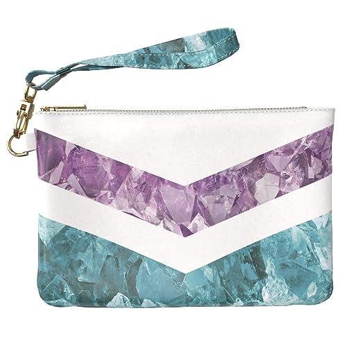 4e75ab174e6f Lex Altern Makeup Bag 9.5 x 6 inch Blue Purple Marble Stone ...
