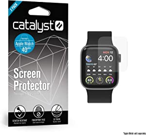 Catalyst 2X Screen Protector for Apple Watch Series 4 40mm Fingerprint Free, Microfiber Cleaning Cloth Included - iWatch Apple Accessories